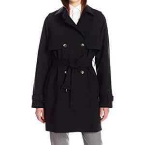 Black trench coat   Calvin Klein soft shell rain